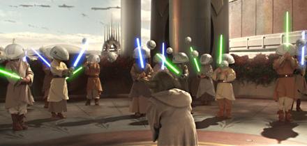 L'entraînement des Jedis de 6 ans.